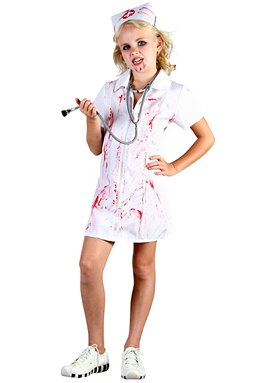 Bristol Novelty White Mad Nurse Childrens Costume Girls Small 5-7 Years