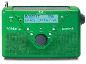 SolarDAB2 Green DAB/FM solar powered radio