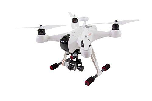 XciteRC-15003160-Quadrocopter-X350-Premium-RTF-FPV-Drohne-mit-iLook-Full-HD-Kamera-3D-Gimbal-GPS-Groundstation-Akku-Ladegert-und-Devo-F12E-Fernsteuerung-mit-integriertem-Farb-Monitor
