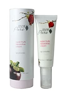 100% Pure: Super Fruits Reparative Cream, 1.6 oz, Contains Vitamins and Antioxidants To Reduce the Appearance of Lines and Wrinkles, and Increase Skin Firmness by 100% Pure