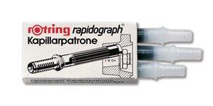 Rotring Rapidograph Lot de 3 Encre spéciale Noir