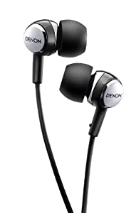 Denon AH-C260 Acoustic Luxury In-Ear Headphones (Black)