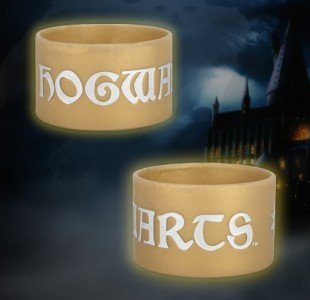 "Neca Harry Potter Deathly Hallows DH Series 2 Thick Rubber Bracelet - ""Hogwarts Latin"""