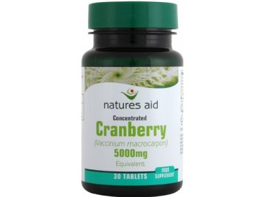 Natures Aid Cranberry Tablets 200mg Pack of 30