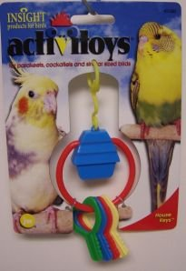 JW Pet Company Activitoy House Keys Bird Toy for Keets and Tiels Assorted Colors