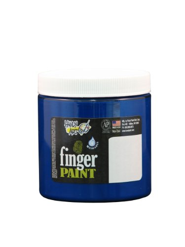 Handy Art by Rock Paint 246-030 Washable Finger Paint, 1, Blue, 8-Ounce - 1