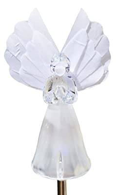 Solar Wholesale Angel Garden Fiber Optic Wing Light, Frosty Snow White