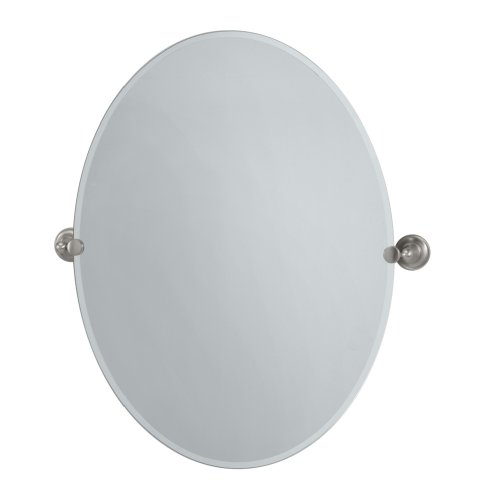 Brushed Nickel Oval Bathroom Mirrors