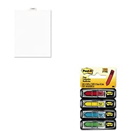 KITAVE11942MMM684SH - Value Kit - Avery Preprinted Legal Bottom Tab Dividers (AVE11942) and Post-it Arrow Message 1/2amp;quot; Flags (MMM684SH)