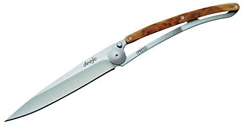 Deejo Linerlock Juniper 37 gram Folding Knife