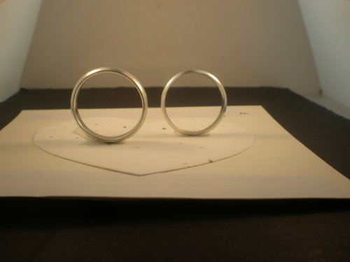 STERLING SILVER WEDDING BAND for HIS N HER 2mm/7mm RING SET