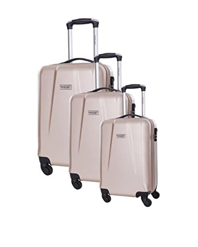 TRAVEL ONE Set de 3 trolleys rígidos Pandara Beige