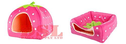 super-soft-strawberry-pet-igloo-dog-cat-bed-house-kennel-doggy-fashion-cushion-basket-x-large-pink