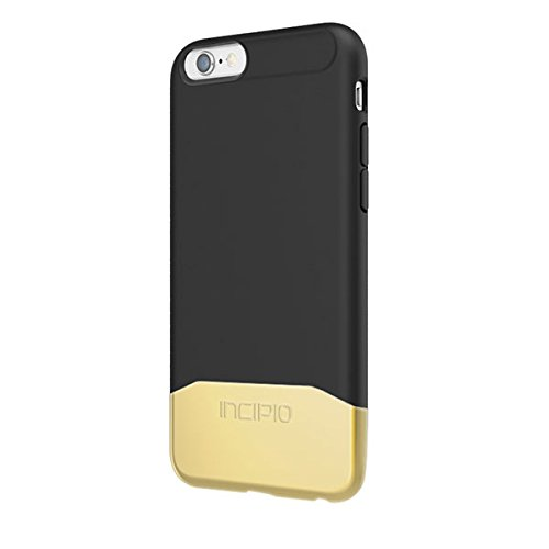 iPhone 6S Case, Incipio EDGE Chrome Case [Hard Shell][Shock Absorbing] Cover fits both Apple iPhone 6, iPhone 6S - Black/Gold (Incipio Edge compare prices)