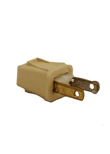 Leviton 123-Pi 10 Amp, 125 Volt, Plug, Polarized, Non-Grounding, Ivory front-606673