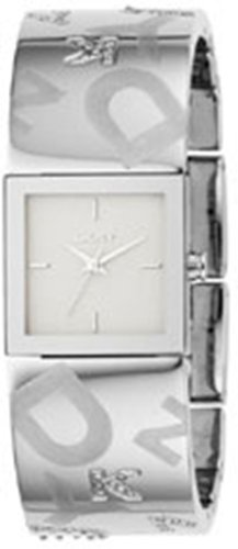 DKNY Crystal Logo Cuff White Dial Women's Watch #NY4801