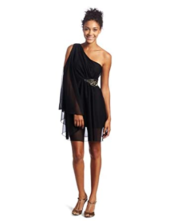 XOXO Juniors One Shoulder Bat Wing Dress from amazon.com