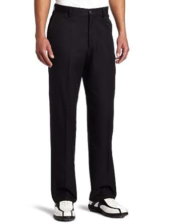 IZOD Men's Microfiber Flat Front Sun Pant, Deep Black, 32x30