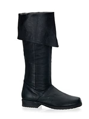 mens black leather folded pirate boots co uk