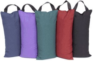 YogaAccessories (TM) Unfilled Sandbag for Yoga and Pilates – Maroon,$9.49