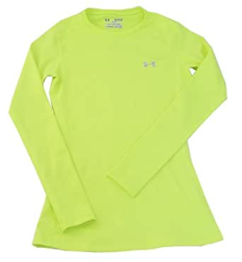 Under armour women 39 s fitted long sleeve for Yellow under armour long sleeve shirt