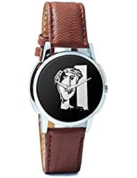 BigOwl The Composed Reality Painting Analog Men's Wrist Watch 2115074526-RS1-W-BRW