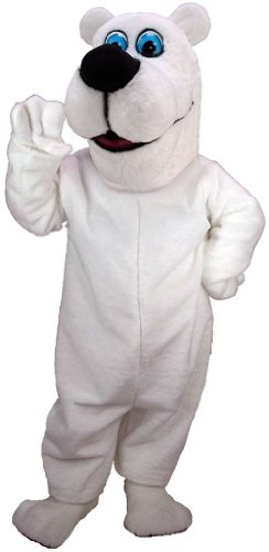 Toon Polar Bear Lightweight Mascot Costume