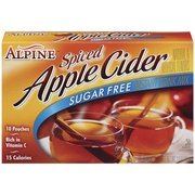 Alpine Spiced Apple Cider Sugar Free Instant Drink Mix, 10 Ct(Case Of 2)