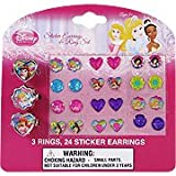Disney Princess Sticker Earrings & Ring Set - 3 rings & 24 sticker earrings,(Disney)