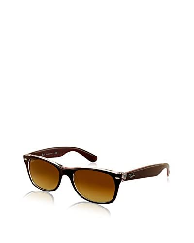 Ray Ban RB2132 Wayfarer Sunglasses Matte Bordò on Trasparent