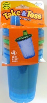 The First Year'S Learning Curve Take & Toss Spill-Proof Cups, 4-Count (3-Pack) front-970792