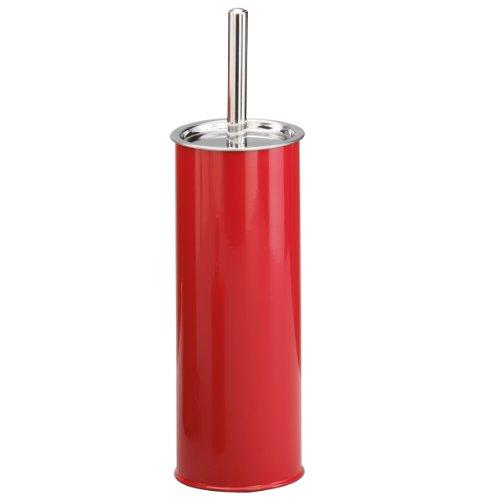 Wc b rsten de zeller 18224 wc b rste metall edelstahl 9 5 x 37 5 cm rot - Wc burste wandmontage ...