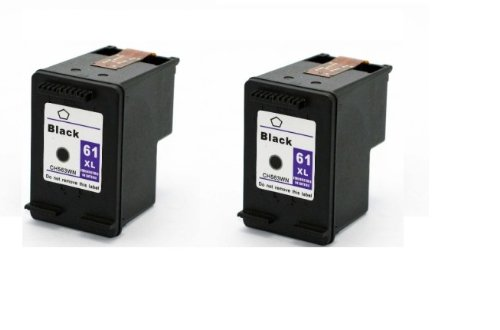 Remanufactured Ink Cartridge Replacement for HP 61xl (2 Black) 2 Pack (Replacement Cartridge For Hp 61xl compare prices)