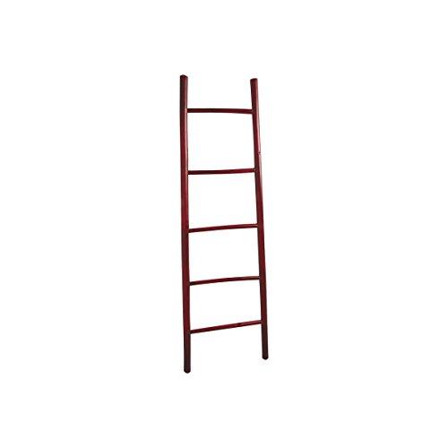 echelle-porte-serviettes-en-bambou-teinte-rouge-150cm