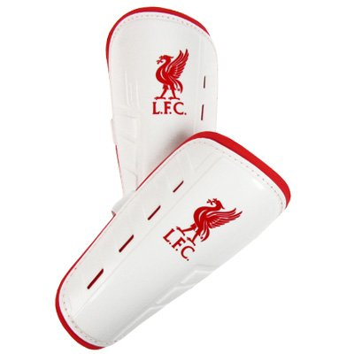 Official Liverpool FC Football Moulded Shinpads Shin Guards Sz 11-13 Yrs
