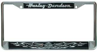 Chroma Harley-Davidson Chrome/Domed License Plate Frame (6413) (License Plate Frame Harley compare prices)