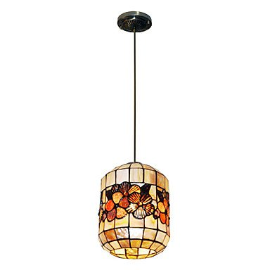80w stylish tiffany pendant light with 2 lights and for Shell ceiling light fixtures