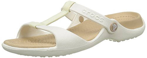 Crocs, Cleo III Sandali Donna, colore Beige (Oyster/Gold 13S),   37/38