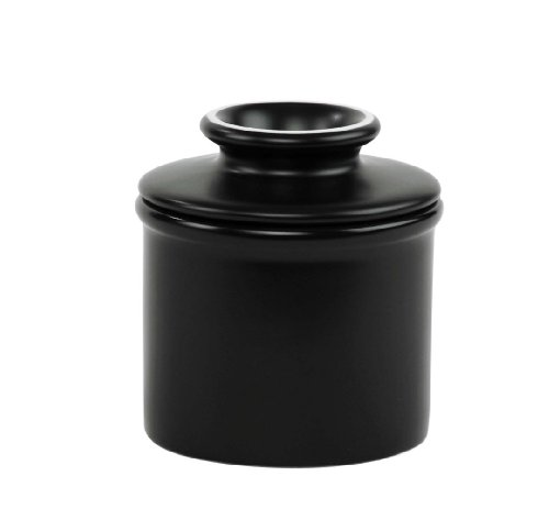 Butter Bell Crock, Matte Black