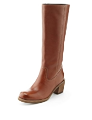 Indigo Collection Leather Panelled Long Boots with Insolia®
