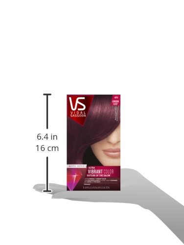 Vidal Sassoon Pro Series London Luxe Hair Color Kit 4RV Mayfair Burgundy 037