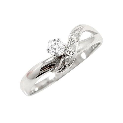 [アトラス] Atrus エンゲージリング 婚約指輪 ダイヤリング プラチナ900 リング 指輪 ダイヤモンド ダイヤ 0.13ct 結婚記念 リング 指輪 17号