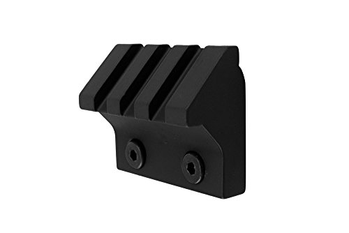 Monstrum Tactical 45 Degree Offset Picatinny Rail Section for Keymod (3 Slot/1.5 inch) (Black) (See More Red Dot compare prices)