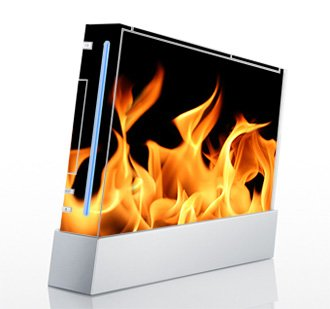 True Flame Skin for Nintendo Wii Console