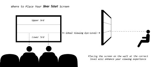 Silver-Ticket-4K-Ultra-HD-Ready-Cinema-Format-6-Piece-Fixed-Frame-Projector-Screen