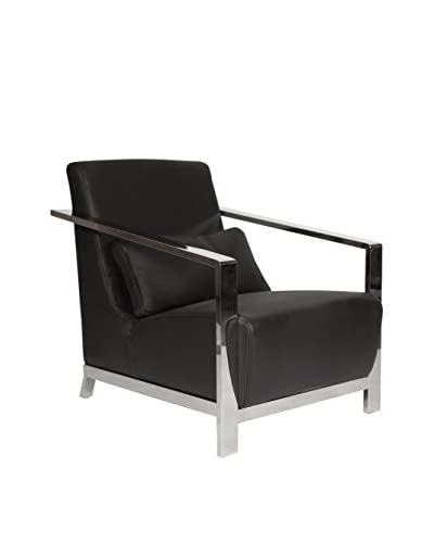 Whiteline Erika Armchair, Black