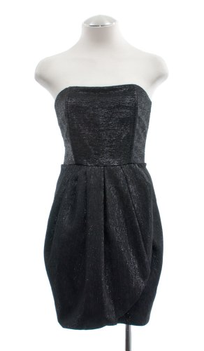 Alice + Olivia Black Metallic Tulip Cocktail Dress 8