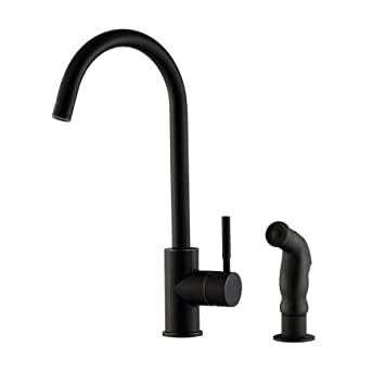 Design House 545723 Springport Kitchen Faucet with Side Sprayer, Oil Rubbed Bronze