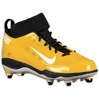 nike super bad 3 d yellow Gold/Black Football Cleats Men Shoes (11)