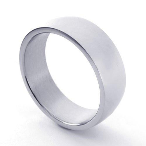 (キチシュウ)Aooazジュエリー メンズステンレスリング指輪 スムーズシンプルデザイン 幅は9MM シルバー 高品質のアクセサリー 日本サイズ24号(USサイズ11号)